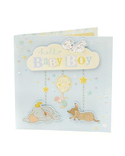 (Carlton 796150–0Disney Bambi und Dumbo Congratulations Baby Boy Karte)