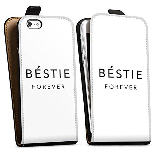 Apple iPhone X Silikon Hülle Case Schutzhülle Sprüche Freundschaft Luxus Bestie Downflip Tasche schwarz