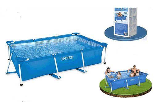 Piscina desmontable rectangular 300x200x75cm familiar 6 personas 3834L