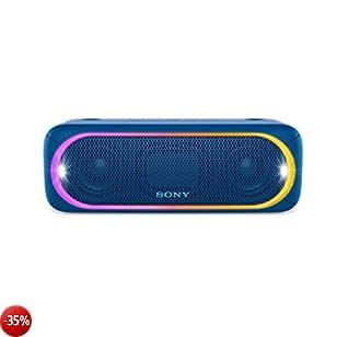 Sony SRS-XB30 Altoparlante Wireless Portatile, Extra Bass, Bluetooth, NFC, USB, Resistente all'Acqua IPX5, Blu