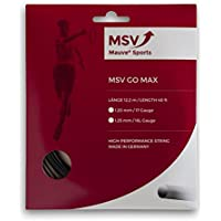 MSV Go Max Set di corde, 1,2 mm, colore: nero - 16 Tennis String Set