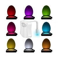 8 COLOR MOTION SENSOR LED HOME BATHROOM TOILET SEAT LIGHT