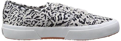Superga 2750-Satinw Fantasyanimals, Sneaker, Donna A50 Lt Grey-Black
