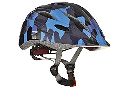 Tuzii Pyxis In Mould Kids Boys Cycling Skate Scooter Safety Helmet Adjustable Ventilation 53-58cm Blue Camo from Tuzii