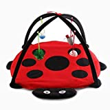 Oddity Pet Toys Cat Activity Center with Hanging Toy Balls Mice & More - Cat Play Mat Cat Play bed