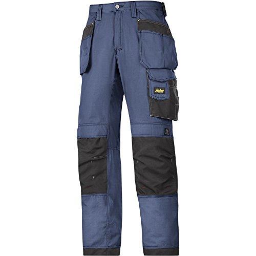Snickers Workwear, 3213, Pantaloni artigianali Snickers ripstop HP navy nero, Gr. 92