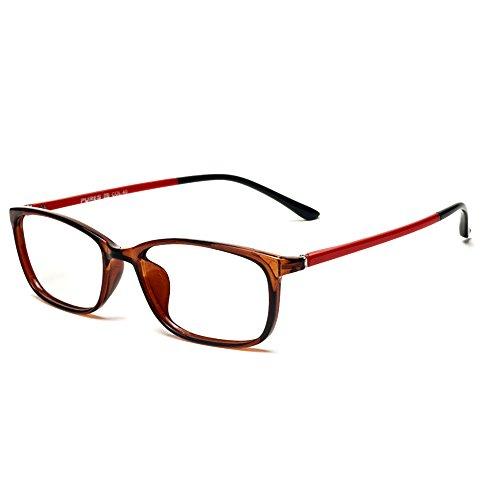Forepin Nerdbrille mit Metallrahmen Brille Ohne Stärke Retro Dekobrille Klassisches reg; Klare...