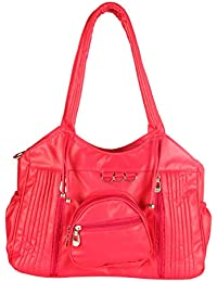 Paras Fashions Stylish Pink Color Shoulder Bag For Girls/Synthetic Leather Handbag For Women