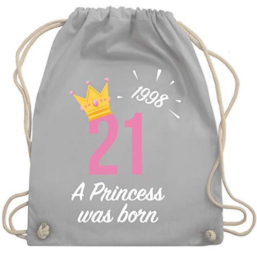 Geburtstag - 21 Geburtstag Mädchen Princess 1998 - Unisize - Hellgrau - WM110 - Turnbeutel & Gym ()