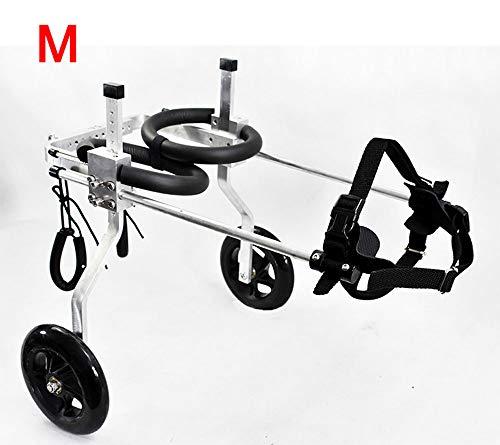 Silla de ruedas para perros, coche para perros, Adecuado para mascotas Pata trasera Práctica Rehabilitación Miembro Discapacitado Discapacitado Lesionado Asistencia Caminar , Perros pequeños grandes ,