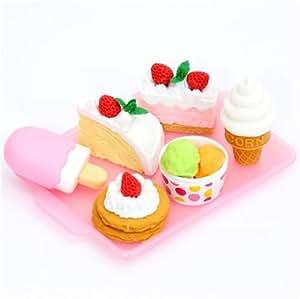 set Gomme da Cancellare Iwako Dessert 6 pz