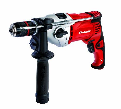Einhell RT-ID 110 Schlagbohrmaschine, 1.100 W, 2 Gänge, max. Schlagzahl 46.500 min-1, Abnehmbare Staubabsaugvorrichtung, Bohrerdepot im Handgriff