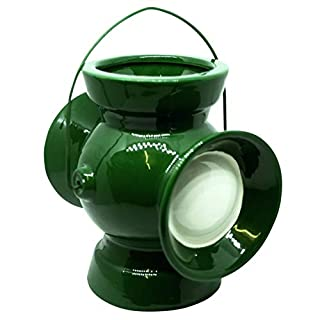 Justice League Green Lantern Mini Planter with Handle for Desktop or Indoor Plants   Power Battery   Ceramic & Cool-Looking   Lightweight & Durable