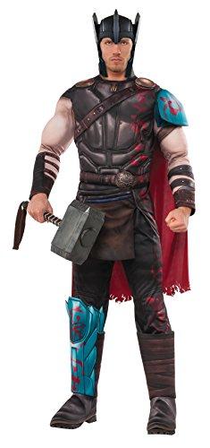 (Generique - Thor Kostüm für Herren Lizenzartikel grau-rot Einheitsgröße)