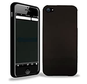 FoneM8® - iPhone 5 Gloss Black Gel Skin Case Cover - INCLUDES 5 Screen Protectors