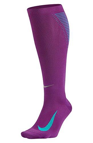Nike U nK ELT Comp OTC Chaussettes pour homme Multicolore - violet/bleu/argent (Cosmic Purple / Omega Blue / Metallic Silver)
