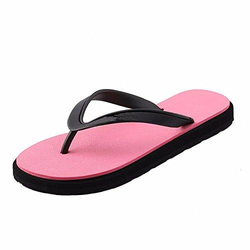 FLYRCX Estate lady's a fondo piatto pantofole outdoor semplice personalità bagno pantofole pantofole a