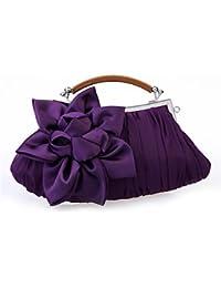 SUNNY KEY-Clutches@Women Chiffon / Satin Casual / Event/Party / Wedding Evening Bag White / Pink / Purple / Red / Gray / Black / Khaki