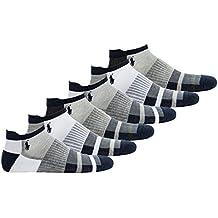 Polo Ralph Lauren Calcetines de Hombre, Paquete de 6 - Calcetines Deportivos, Talla Unica