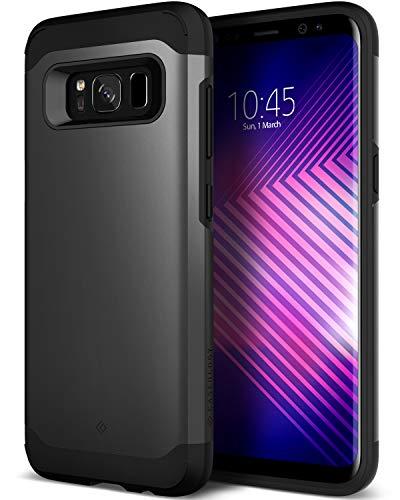 Caseology Galaxy S8 Hülle, [Legion Serie] Starker Schutz Schlanke Robuste Dopellagige Schutzpanzerung [Schwarz - Black] für Samsung Galaxy S8 (2017) - Matt Handtaschen Nat