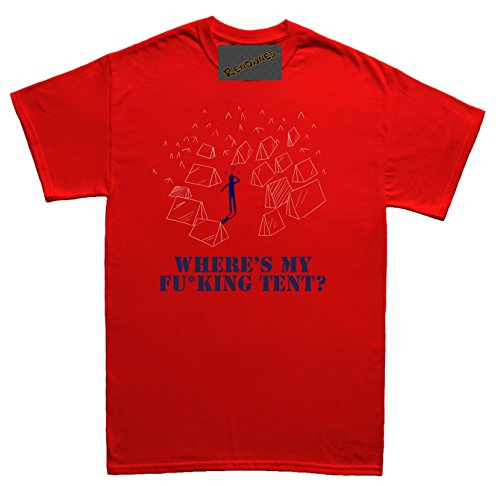 Renowned Where's my Fu*king tent? Unisex - Kinder T Shirt Rot