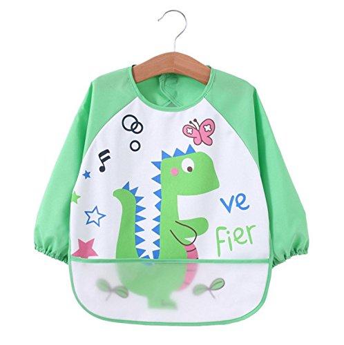 Oral-Q unisex - kinder childs kunst - handwerk gemälde schürze baby wasserdicht lätzchen mit ärmeln & tasche, 6-36 monate (90#, I)