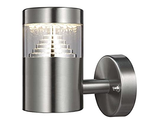 Northpoint Edelstahl Design LED Wandleuchte 7 Watt Außenwandleuchte Wandstrahler Hausbeleuchtung L-Form
