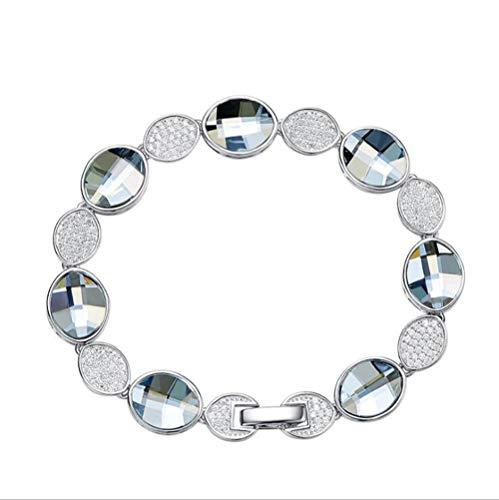 Damen Armband, Sterling Silber Kristall Und Zirkon Armband Kostüm Mode Mit Swarovski Elements Kristall Geburtstagsgeschenk Geburtstagsgeschenk Und Begleiter Geschenk (Element, Fünfte Kostüme)