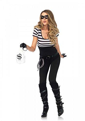 Sexy Bankräuberin Damen-Kostüm von Leg Avenue - Dieb Einbrecher Verbrecher Banditin Panzerknacker, (Kostüme Halloween Einbrecher)