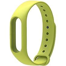 LuckWin Correa de Recambio para XIAOMI Wireless MI BAND 2 Brazalete Pulsera Inteligente Extensibles Coloridos Impermeables ( Verde Pistacho )