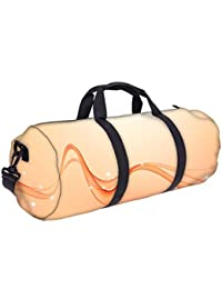 Snoogg Abstract Orange Waves Gym Bag, Sports Duffel Bag, Fitness Workout Yoga Bag For Men Women With Compartment