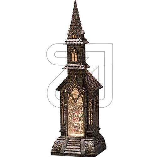 LED Kirche Schneekugel antik * sehr groß *