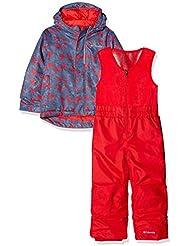Columbia Set Conjunto de Nieve con Chaqueta para niños, Buga, Azul (Dark Mountain Arrow Print), Talla XXS