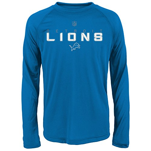 Outerstuff NFL Detroit Lions Youth Jungen Maximal Longsleeve Performance Tee XL Lion Blue