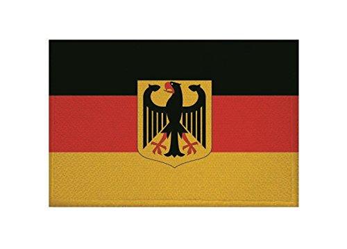 U24 Aufnäher Deutschland mit Adler Fahne Flagge Aufbügler Patch 9 x 6 cm