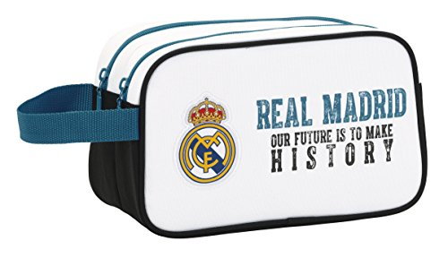 Real Madrid – Neceser 2 cremalleras adaptable a carro (Safta 811754518)