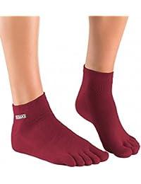 Knitido Track & Trail Ultralite Fresh Seasons   kurze Zehensocken für Sport und Freizeit, geeignet für Zehenschuhe, einfarbig in 7 Farben, für Damen und Herren (unisex), aus Baumwolle (39%) und kühlender Coolmax®-Faser, Größe:43-46;Farbe:Navy