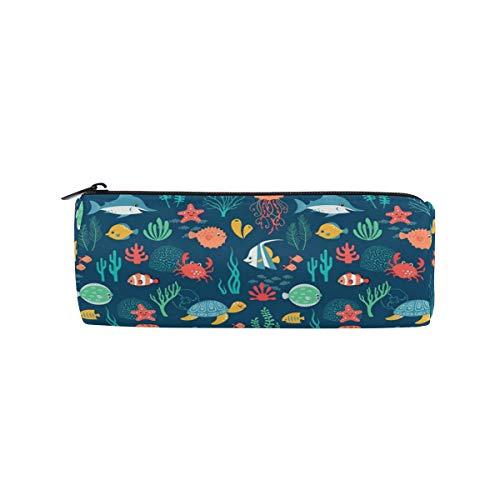 Cartoon-Haifisch-Mäppchen/Schildkröte / Clownfische/Unterwasserwelt / Stifteköcher/Stifteköcher / Kosmetikboxen/Schule, Büro, Reisetasche -