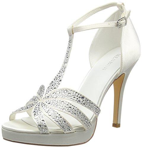 Menbur Kira, con Cinturino alla Caviglia Donna, Bianco (Off White (04)), 38 EU