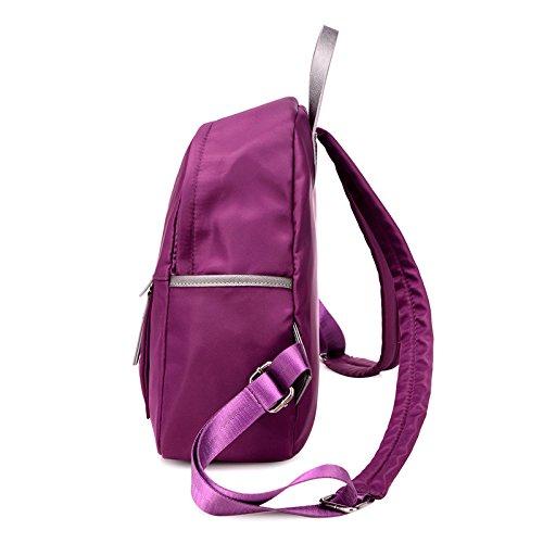 LINGE-Donna Oxford casual zaino zaino , black Purple