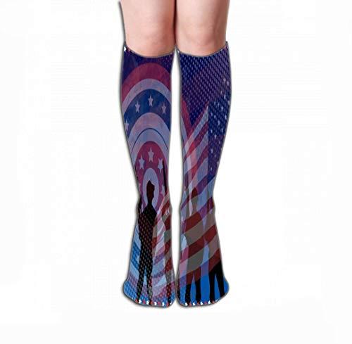 Kotdeqay Women Girls Novelty Funny Crew Socks 19.7