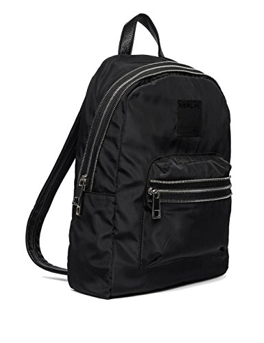 Replay Mens Unisex Light Pink Backpack 100% Polyester Black