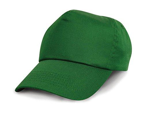 RESULT Unisex Kinder Baseball Kappe, einfarbig (Einheitsgröße) (Grün)