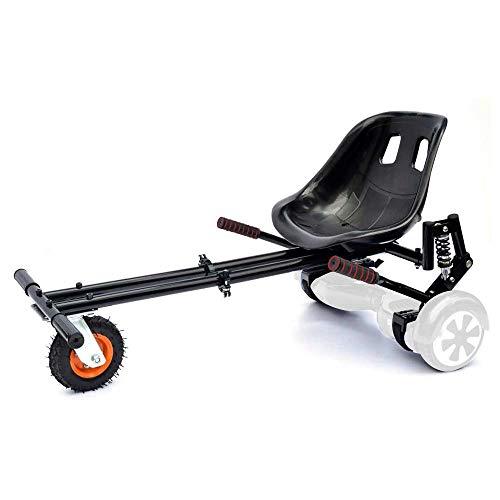 Smarthlon Hoverkart Go Kart Hover Sitz Roller kompatibel mit 6,5, 8, 10 Zoll (EINWEG) (A5Schwarz)