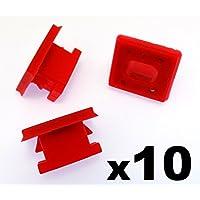 10x Remaches Plásticos - Salpicadero Molduras Rallas Ojal Rojo Clips para A rayas Inserto E46 - Coche Grapas (51458266814) - Franqueo libre!