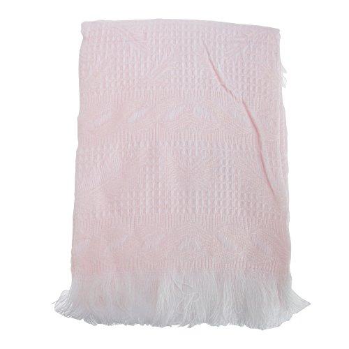 Baby Schal für Jungen oder Mädchen mit Fransen (120cm x 120cm ) (Pink)