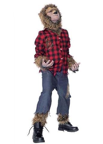 Kids Size The Wolf Man Werewolf Costume Large (10-12