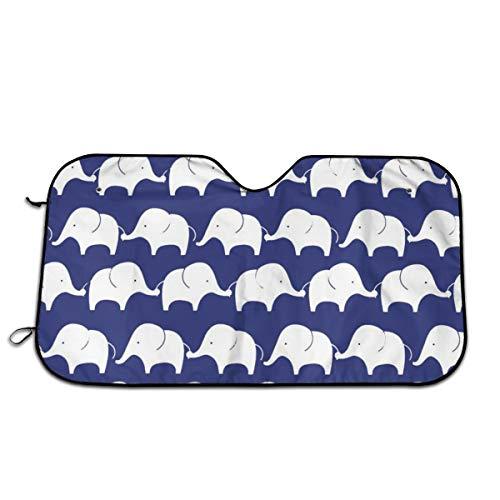 FATHYU - Parasol para Parabrisas pequeño, diseño de Elefante, Color Azul