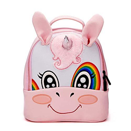 Rufun zaino per bambini per scuola di forma 3d ricamo materiale per immersione (unicorn)