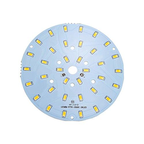 sourcing map 600mA 18W 36 LEDs 5730 SMD LED Panneau en aluminium de module de puce Blanc chaud 119mm Dia
